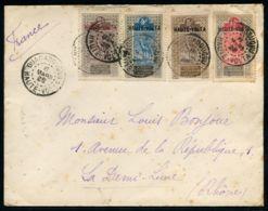 """Lot N°7371a - Haute-Volta - Affrt Composé Obl Càd """"OUAGADOUDOU 8/MARS/18"""" Pour Le RHONE - Rousseurs - Upper Volta (1920-1932)"""