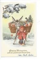 20942 - Christkindl 10.12.1959   Ane Chargé De Cadeaux Enfant Signé H. Hoyas - Andere