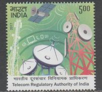 INDIA, 2017, MNH, TELECOM INDUSTRY, TELECOM REGULATORY AUTHORITY OF INDIA, SATELLITES,1v - Other