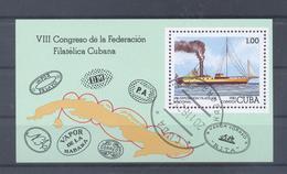 1982  Kuba  Mi-2708  13.November Nationale Briefmarkenausstellung Block 74 - Blocs-feuillets