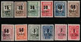 MEMEL - Occupation Lituanienne - N°156/167  Obl/sg (1923) - Memelgebiet
