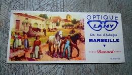 Buvard Optique Lamy 126 Rue D'aubagne Marseille  B  Sirven Cheval Ferme - Autres