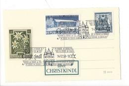 20943 - Christkindl 14.12.1958   Christkindl Bei Steyr + Vignette Über Christkindl - Natale