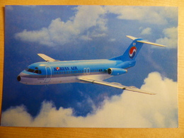 AIRLINE ISSUE / CARTE COMPAGNIE         KOREAN AIR  FOKKER 28 - 1946-....: Modern Era