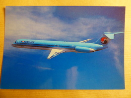 AIRLINE ISSUE / CARTE COMPAGNIE         KOREAN AIR   MD 82 - 1946-....: Ere Moderne