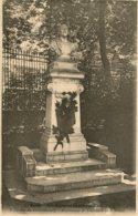 CPA - PARIS - JARDIN DU LUXEMBOURG - MONUMENT DE THEODORE DE BANVILLE (IMPECCABLE) - Parcs, Jardins