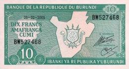 Burundi 10 Francs, P-33e (2005) - UNC - Burundi