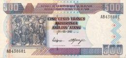 Burundi 500 Francs, P-38a (1.12.1997) - UNC - Burundi