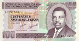 Burundi 100 Francs, P-44a (1.5.2010) - UNC - Burundi