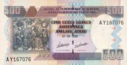Burundi 500 Francs, P-45a (1.5.2009) - UNC - Burundi