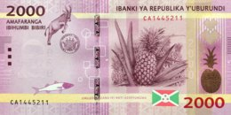 Burundi 2.000 Francs, P-52 (15.1.2015) - UNC - Burundi