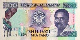 Tanzania 500 Shilingi, P-26b (1993) - UNC - Tansania