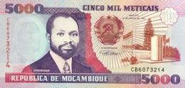 Mozambique 5.000 Meticais, P-136 (16.6.1991) - UNC - Moçambique