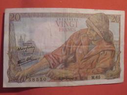 Billet FRANCE 20 Francs Pêcheur 1943 - 1871-1952 Anciens Francs Circulés Au XXème