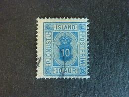 ISLANDE, TIMBRE De SERVICE, Année 1876-1901,  YT N° 6a A Bleu Outremer, Dent 14 X 13,5, Oblitéré (cote 65 EUR) - Service