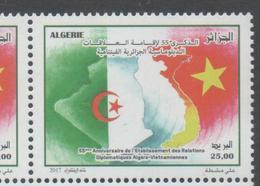 ALGERIA, 2017, MNH, DIPLOMATIC RELATIONS WITH VIETNAM, FLAGS, 1v - Stamps