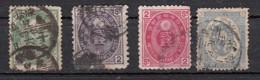 Japon Sèrie 1879  4 Valeurs - Japan