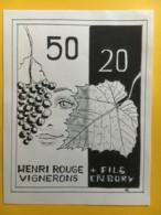 9092 - 50 20 Henri Rouge En Bory Suisse - Art
