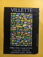 9095 - Villette Claude Giroud Suisse A Vitrail Et Raisins Les Soleils Sont Cousins Artiste: Manessier - Art