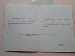 Huwelijk YVONNE MESTDAGH & BORICE VAGINSKI Op 28 Nov 1942 Te Antwerpen ( Details Zie Foto ) ! - Mariage