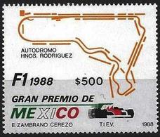 Mexico1988 Scott 1548 MNH Grand Prix, Car - Mexique