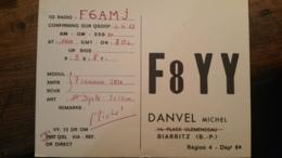 Carte QSL - France - Biarritz - F8YY - Radio Amateur
