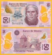 Mexico 50 Pesos P-123A 2016 (Serie U) UNC - Mexique