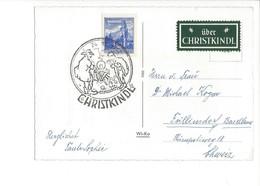 20950 - Christkindl  24.12.1962  Jeune Fille Devant Porte  + Vignette Über Christkindl - Natale