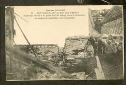 CP-Guerre De 1914-1915 - NEUVILLE-St-VAAST - Barricade - Guerra 1914-18