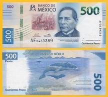 Mexico 500 Pesos P-new 2018 Sign: Carstens Carstens & Alegre Rabiela UNC - Mexico