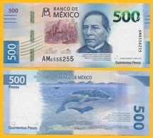 Mexico 500 Pesos P-new 2018 Sign. Del Cueto Legaspi & Alegre Rabiela UNC - Mexique