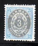 Danemark 1875 Yvert 22 * TB Charniere(s) - Nuovi