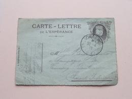 """Carte-Lettre De L""""Espérance ( Franchise Militaire Joffre ) Anno 1916 Tresor Et Postes ( Details Zie Foto's ) ! - Documents"""