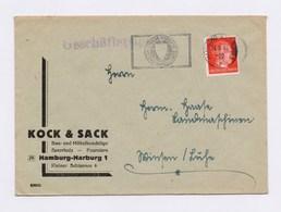 Firmen Umschlag Kock & Sack MWSt HAMBURG HARBURG, Eigene Vorsicht, Bester Unfallschutz 24.5.44 - Deutschland