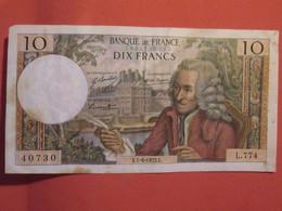 Billet FRANCE 10 Francs Voltaire 1972 - 1962-1997 ''Francs''