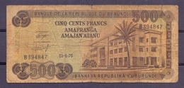Burundi 500 Fr 1975 - Billets
