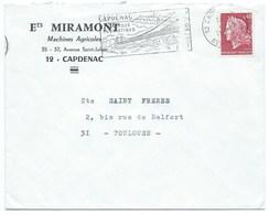 ENVELOPPE MARIANNE DE CHEFFER / 1969 / CAPDENAC AVEYRON - Storia Postale
