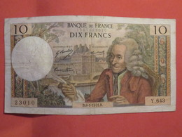Billet FRANCE 10 Francs Voltaire 1971 - 1962-1997 ''Francs''