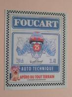 FOUCART Auto Technique / Apéro Du Tout Terrain ( Le Jaune (25) Le Vrai ) > ( Voir Photo ) ! - Vignettes Autocollantes