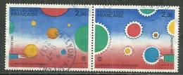FRANCE Oblitéré 2199-2200 Philexfrance 82 Exposition Philatélique Jean Michel Folon La Poste Les Hommes Les Techniques - France