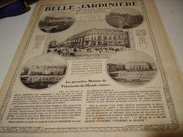 ANCIENNE PUBLICITE LES GRANDS MAGASIN MANTEAU A LA BELLE JARDINIERE  1913 - Habits & Linge D'époque