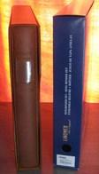 LINDNER - RELIURE + ETUI REGULAR BRUN CLAIR (REF. 1124) - Albums & Reliures