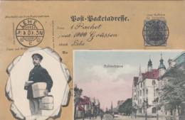 Hafenstrasse Lehe Germany View, German Mail Service Theme, Postman, Facsimile Stamps Image, C1900s Vintage Postcard - Postal Services