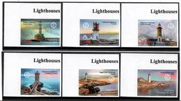 Tajikistan. 2018 Lighthouses.Imperf. 6v: 1.85, 3.50, 4.20, 5.80, 7.60, 10.00 - Tadjikistan