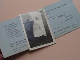 HILDEKE Te Wilrijk Op 30 Nov 1959 > Edegem ( De Wit - Jacobs ) + ( Met Foto Wiegje )  ( Voir Photo ) ! - Naissance & Baptême