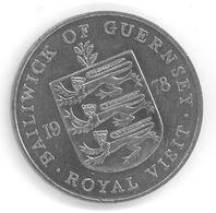 GUERNESEY - GUERNSEY - 25 PENCE 1978 - Elizabeth II - 2eme Effigie - Visite Royale - KM32 - Guernesey