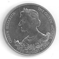GUERNESEY - GUERNSEY - 25 PENCE 1980 - Elizabeth II - 2 Eme Effigie - 80 Ans De La Reine Mère - KM35 - Guernesey