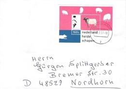 NETHERLANDS - LETTER 1997 DENEKAMP - NORDHORN HEIDE SCHAPEN Mi #BLOCK 51 - Period 1980-... (Beatrix)