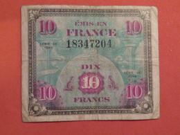 Billet 10 Francs DRAPEAU FRANCE 1944 Impr.américaine - France