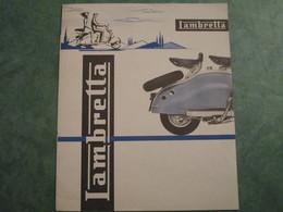 Publicité LAMBRETTA - Dépliant 5 Folios - Motos
